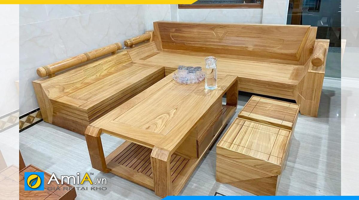 sofa gỗ góc chữ l đẹp