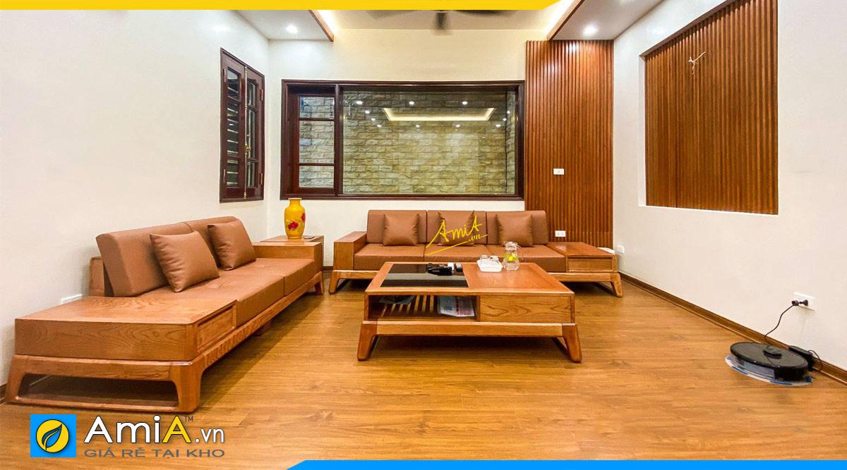 Hình ảnh Sofa gỗ Sồi là gì? Vì sao sofa gỗ Sồi lại được ưa chuộng nhất hiện nay?