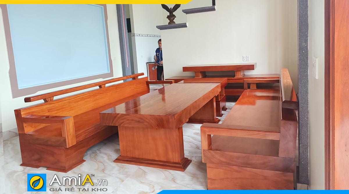 Sofa gỗ nguyên khối đẳng cấp