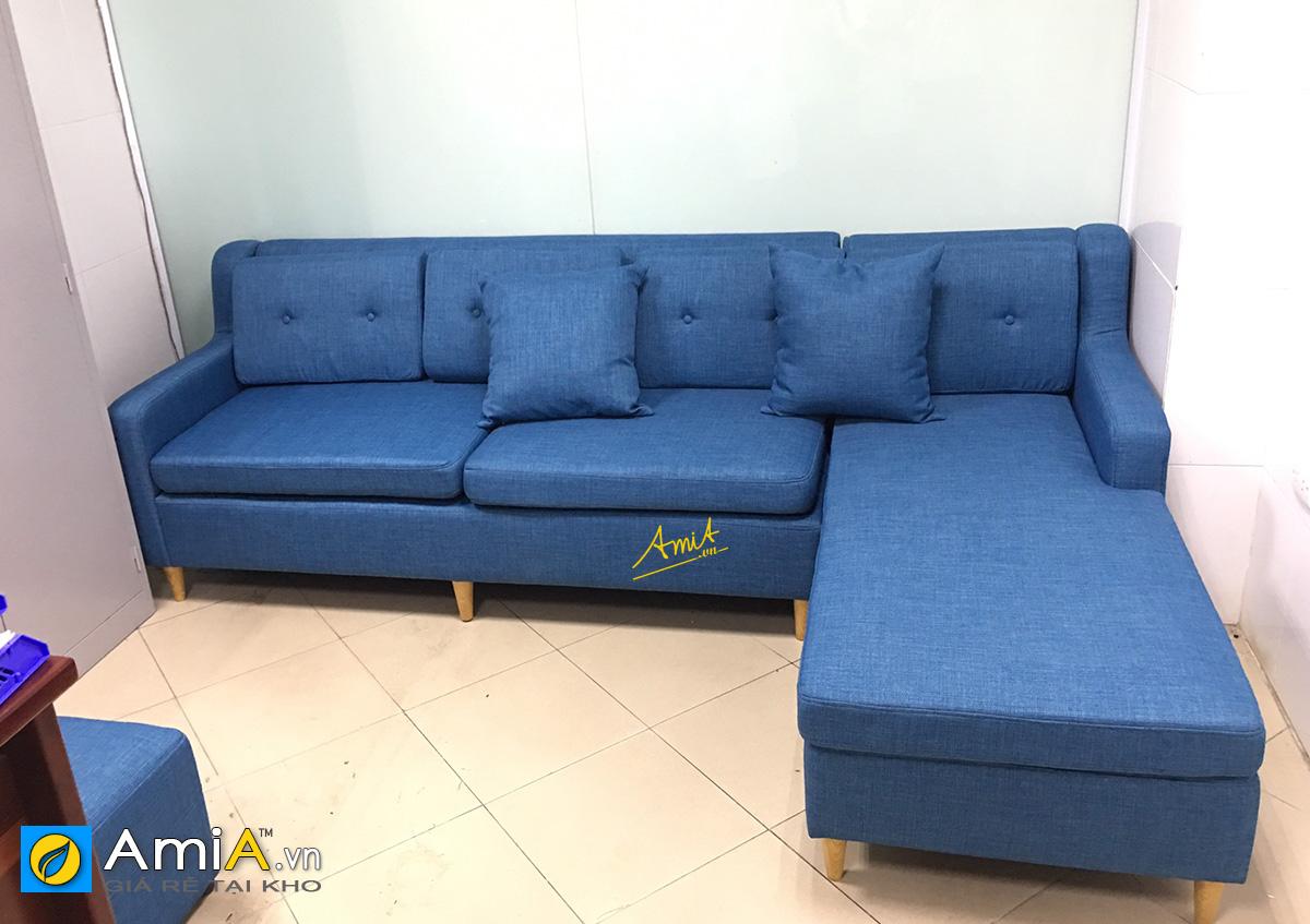 Hình ảnh thực tế sofa nỉ góc chữ L theo yêu cầu của khách hàng AmiA
