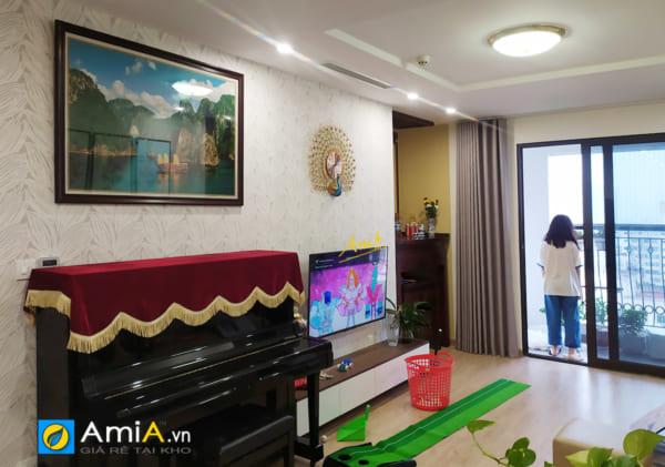 Hình ảnh Tranh treo phòng khách đẹp phong cảnh Vịnh Hạ Long