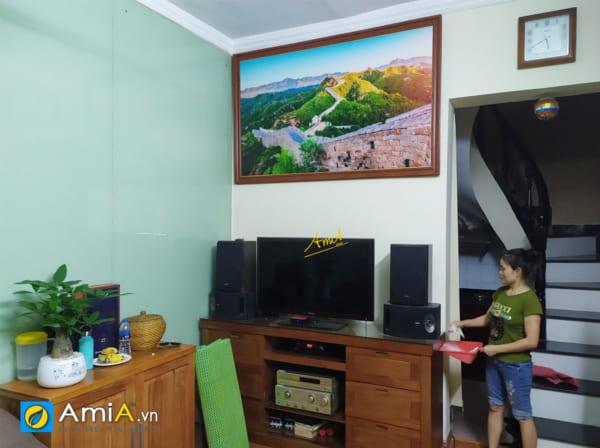 Hình ảnh Tranh treo phòng khách đẹp Vạn Lý Trường Thành Trung Quốc