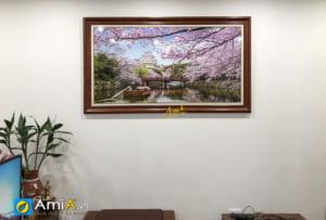 Hình ảnh Tranh treo tường phòng khách chủ đề phong cảnh Nhật Bản