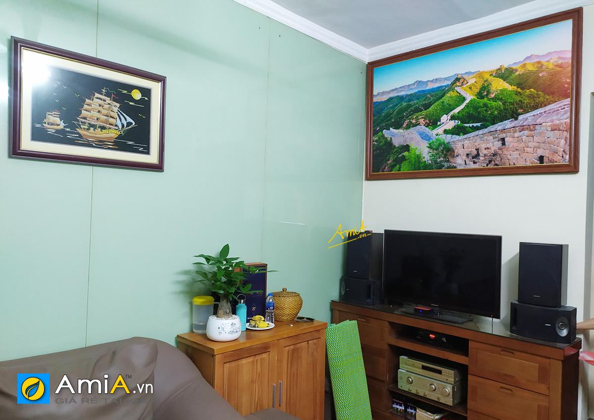 Hình ảnh Tranh Vạn Lý Trường Thành trang trí phòng khách đẹp
