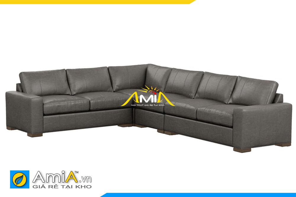 sofa góc da giá rẻ Hà Nội
