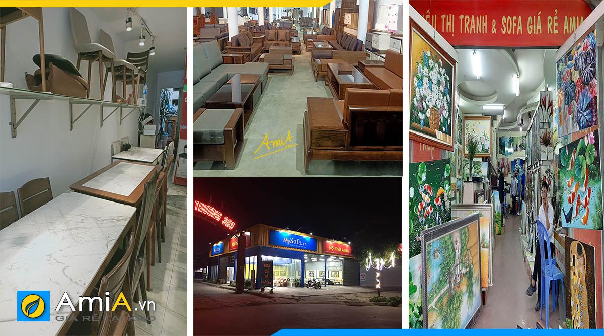 Cửa hàng trưng bày nhiều loại mặt hàng nội thất bán tại Hà Đông