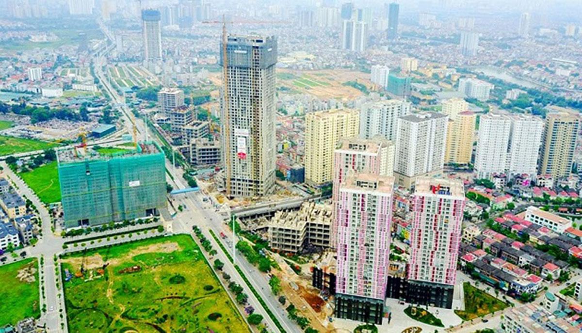 1 góc của quận Hà Đông với nhiều khu đô thị lớn
