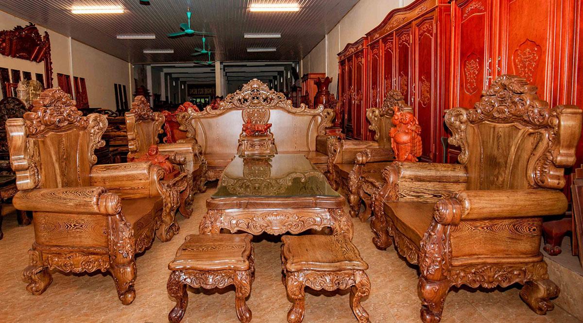 sofa làm từ loại gỗ quý hiếm