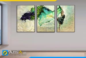 Tranh bộ canvas nghệ thuật cô gái đẹp treo tường AmiA CV1005