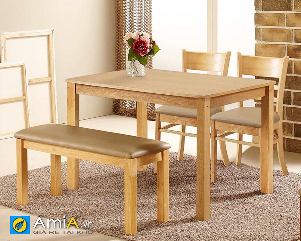 Hình ảnh Bộ bàn ăn 2 ghế hiện đại kết hợp ghế đôn đẹp