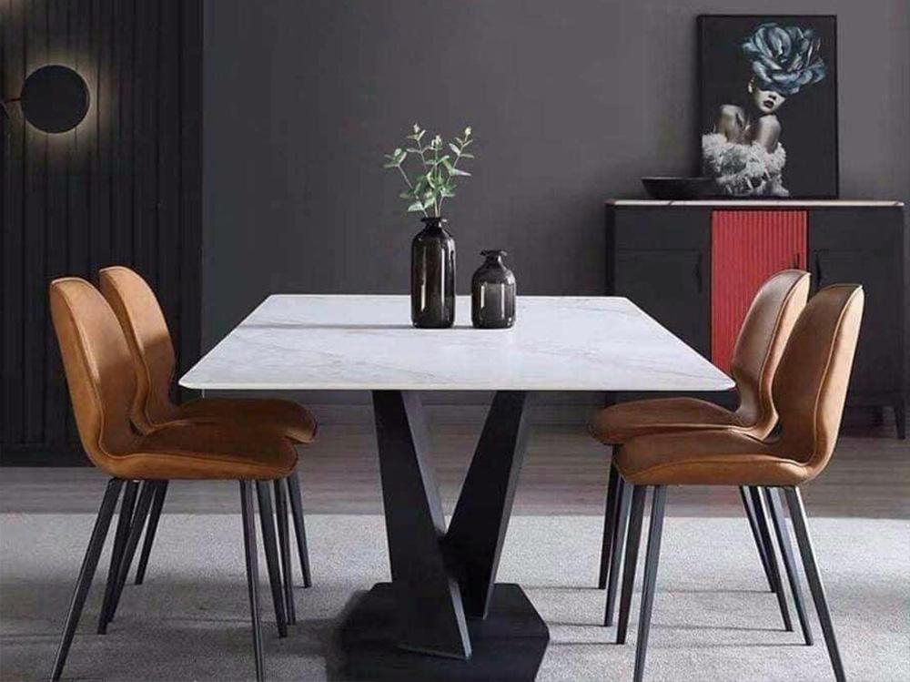 Hình ảnh Bàn ăn 4 ghế mặt đá đẹp sang trọng cho phòng bếp