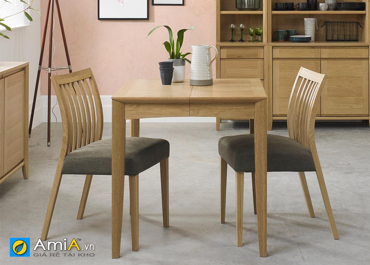 Hình ảnh Bàn ghế ăn 2 chỗ bọc đệm nỉ hiện đại cho không gian đẹp