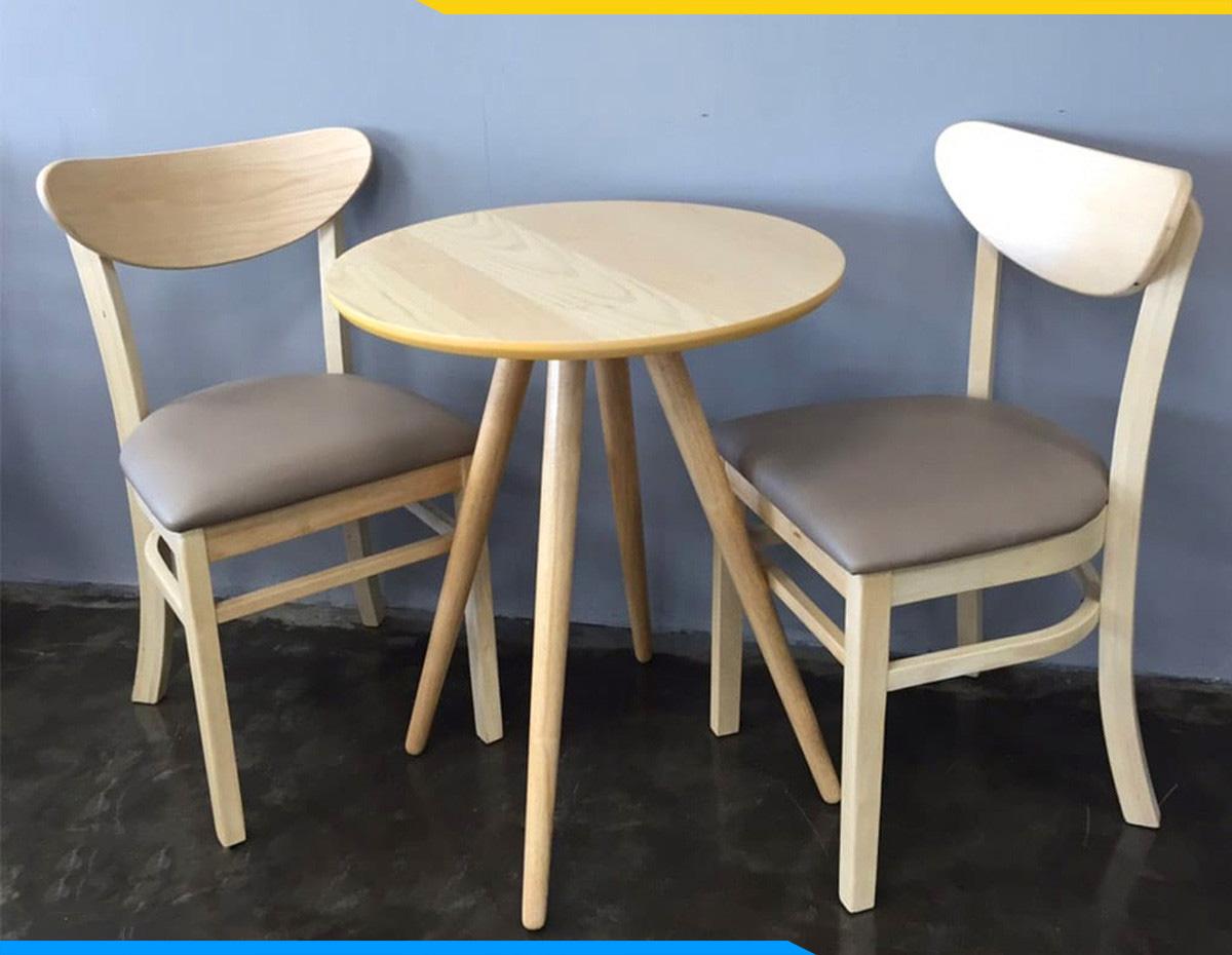 Hình ảnh Bàn ghế ăn 2 chỗ hình tròn đẹp hiện đại giá rẻ