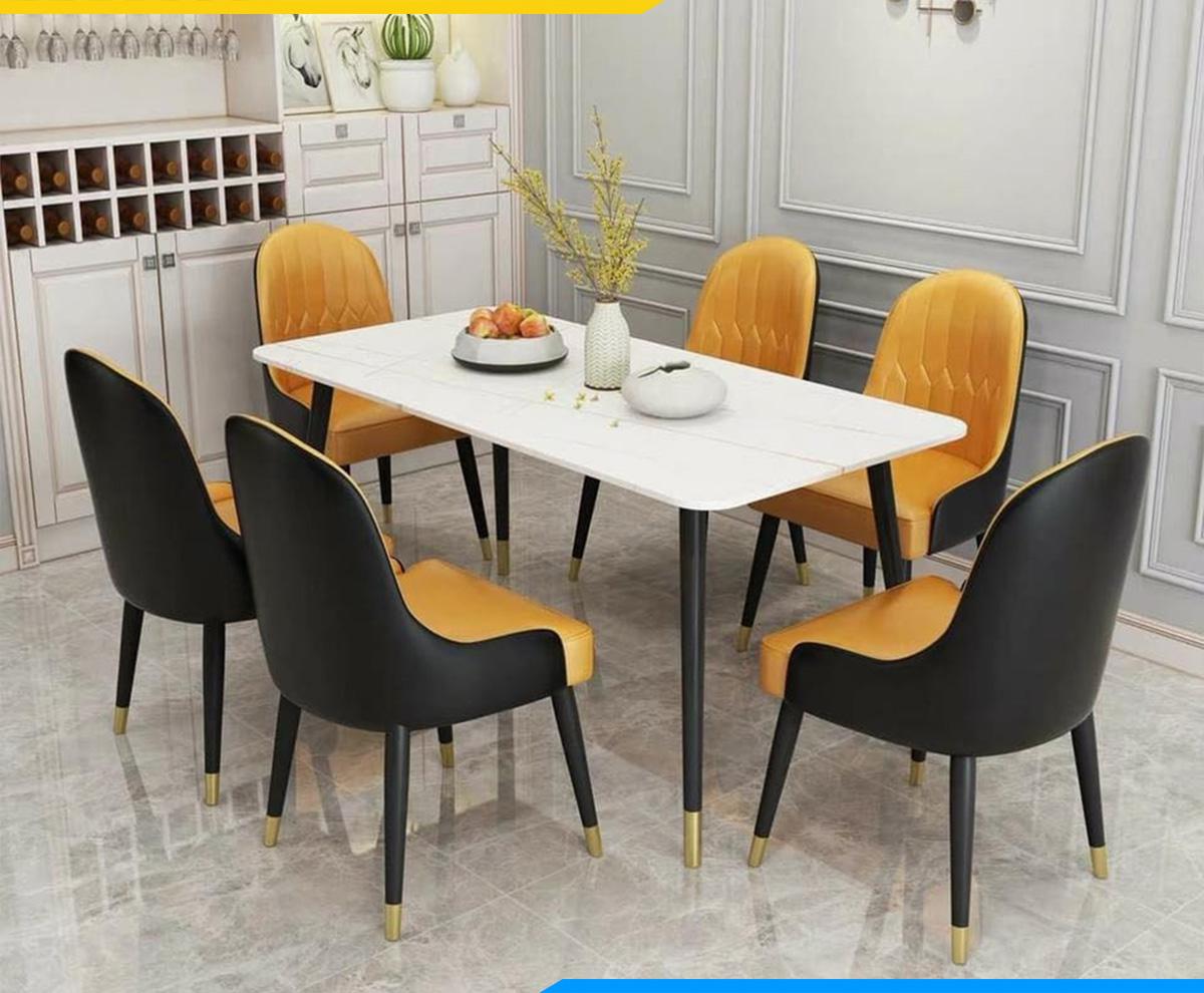 Hình ảnh Bộ bàn ghế ăn cho nhà có người trung niên đẹp sang trọng