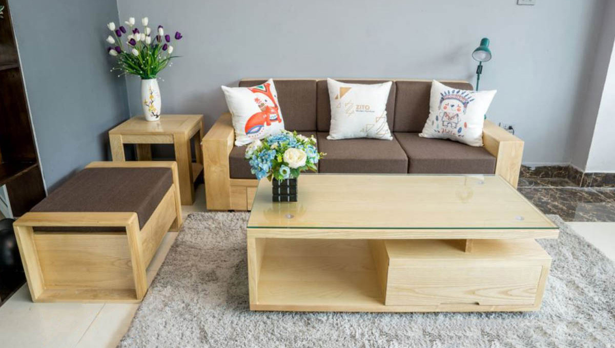sofa gỗ Tần bì