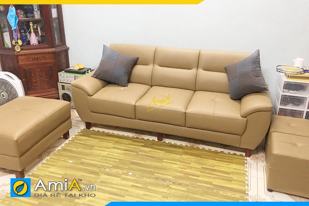 Hình ảnh Bộ ghế sofa văng da 3 chỗ đẹp sang trọng