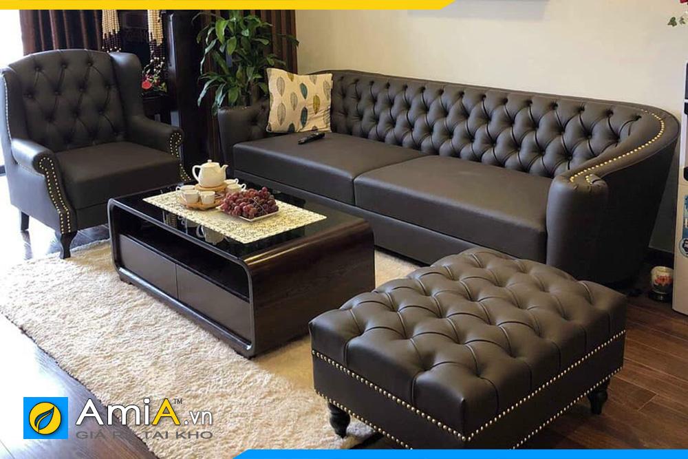 sofa văng kiểu dáng tân cổ điển đẹp sang trọng