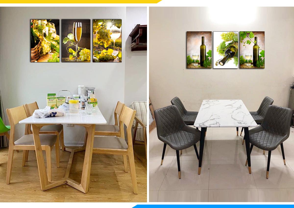 Hình ảnh Các mẫu bàn ghế ăn 4 chỗ mặt đá đẹp sang trọng