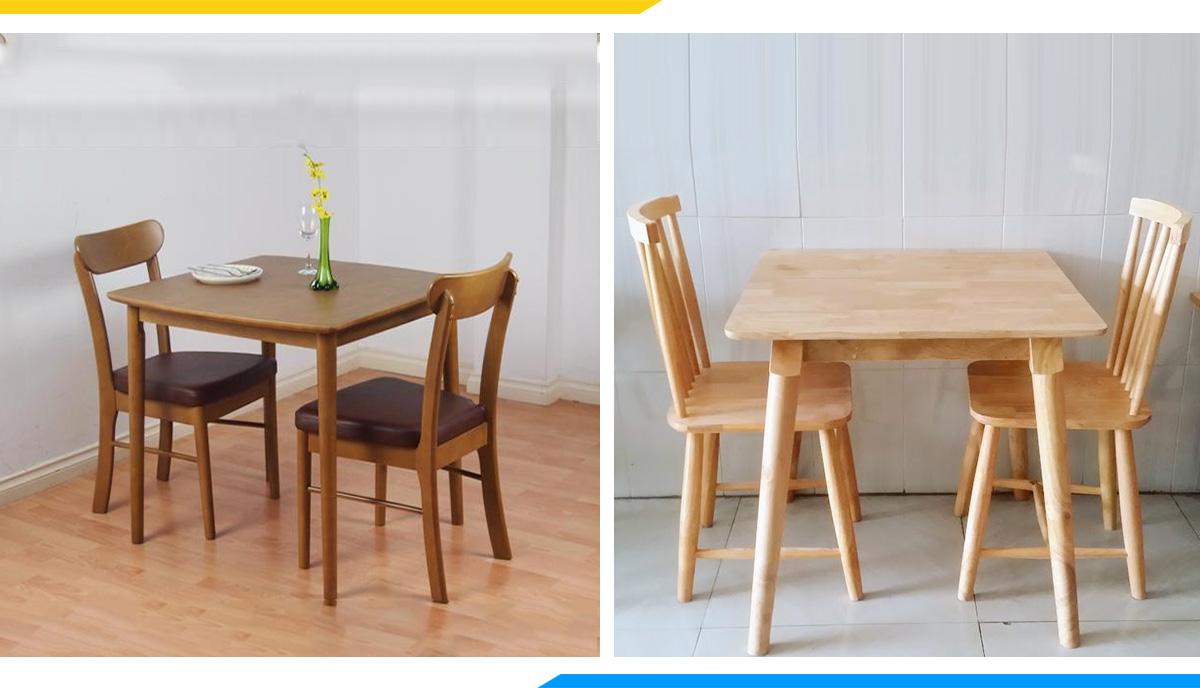 Hình ảnh Các mẫu bàn ghế ăn hình vuông 2 chỗ đẹp hiện đại
