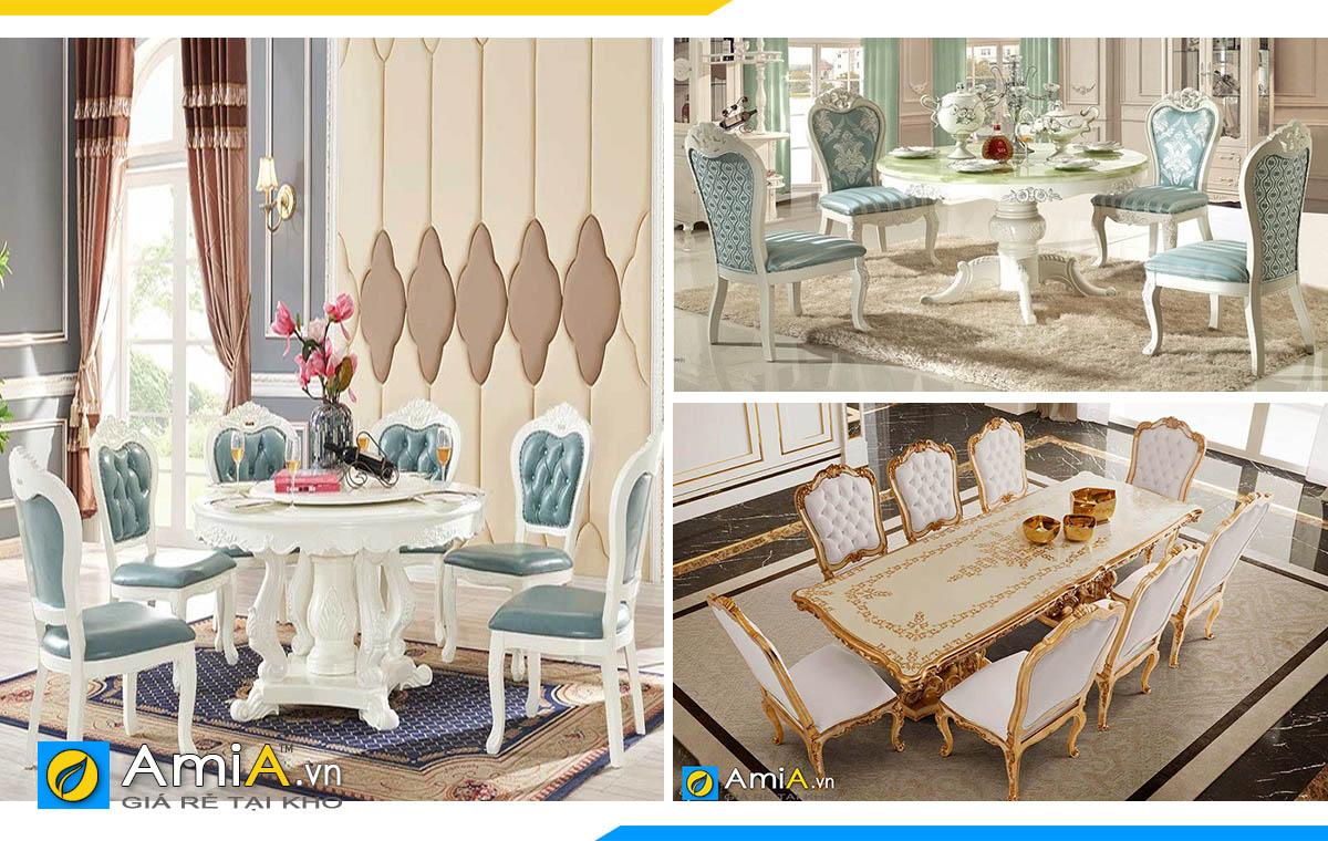 Hình ảnh Các mẫu bàn ghế ăn tân cổ điển đẹp sang trọng