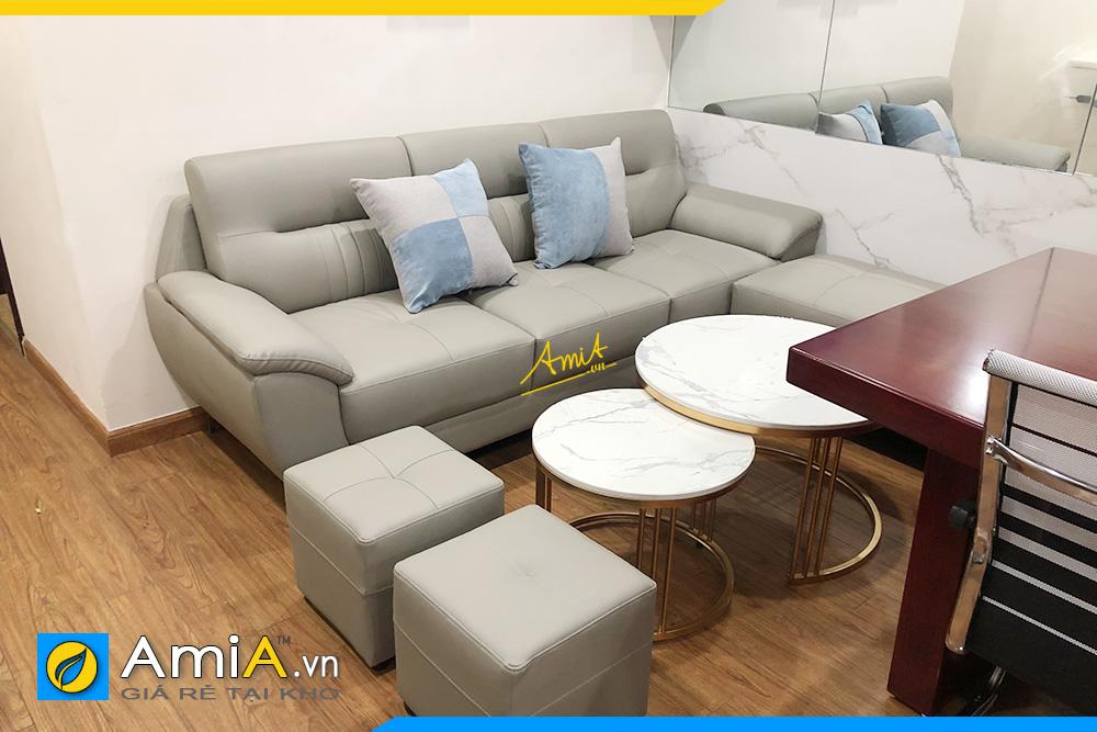 Hình ảnh Chọn sofa văng da 3 chỗ cho phòng khách đẹp