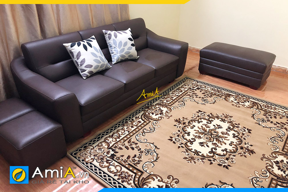 Hình ảnh Chọn sofa văng da 3 chỗ đẹp hiện đại cho phòng khách