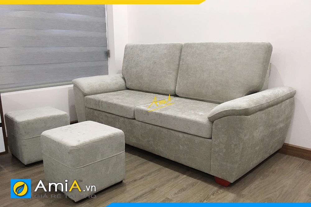 Hình ảnh Chọn sofa văng nỉ 2 chỗ nhỏ xinh cho phòng khách nhỏ