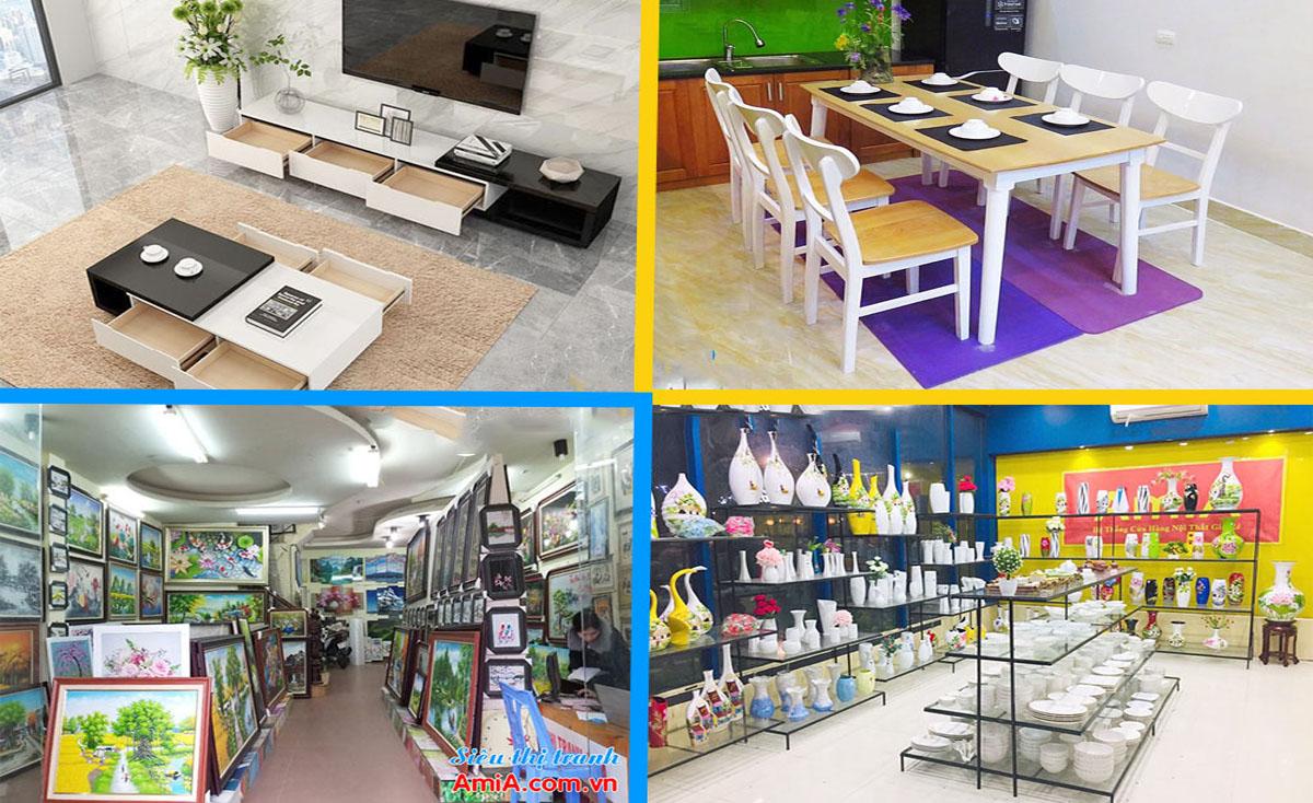 Hình ảnh hệ thống cửa hàng bán nội thất với nhiều mặt hàng khác nhau