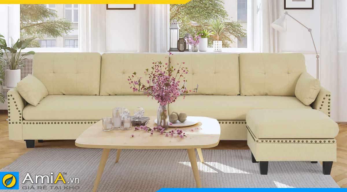 Mẫu ghế sofa chữ L theo yêu cầu