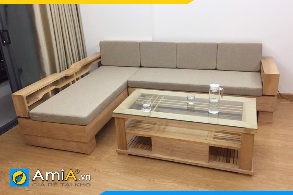 Sofa góc gỗ đẹp