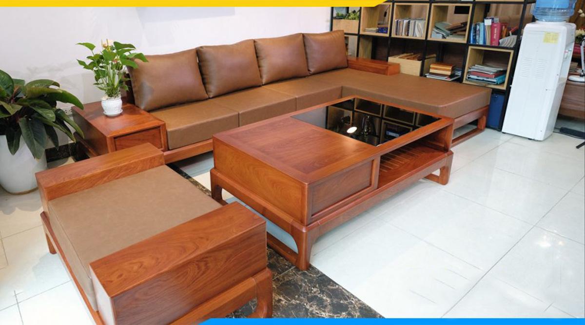 Mẫu ghế sofa gỗ đẹp, thuộc top hot nhất hiện nay