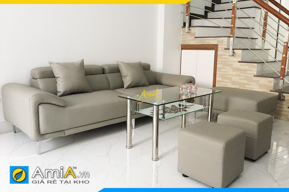 Hình ảnh Ghế sofa phòng khách dạng văng đẹp hiện đại
