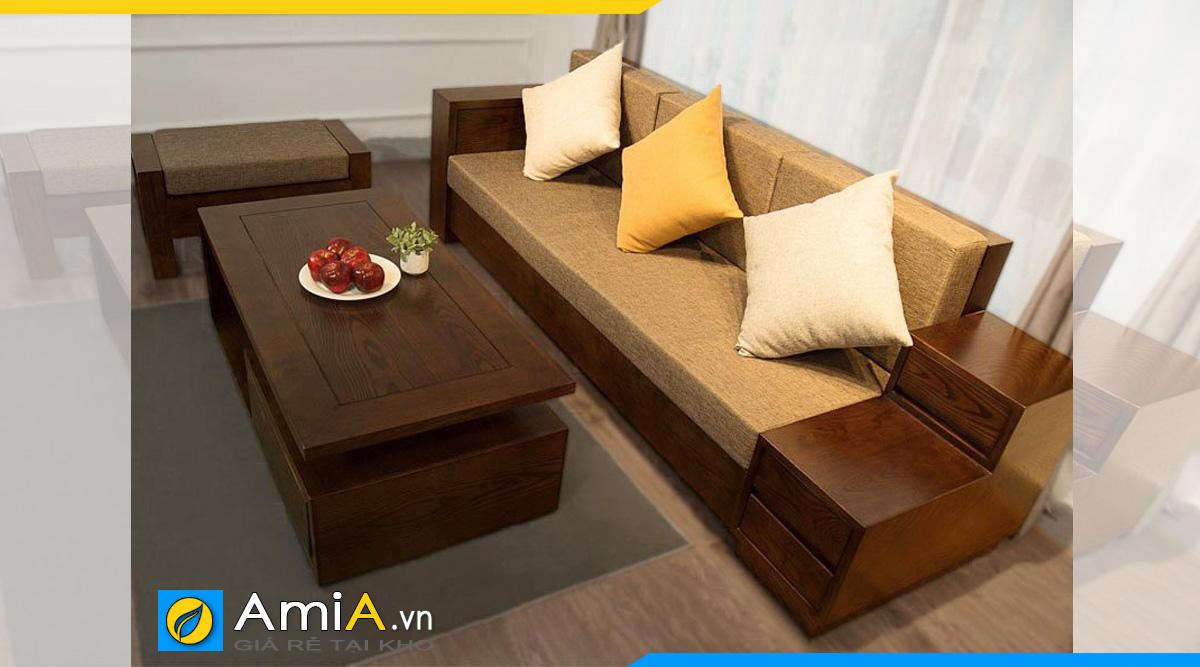 Sofa gỗ văng cho phòng ngủ
