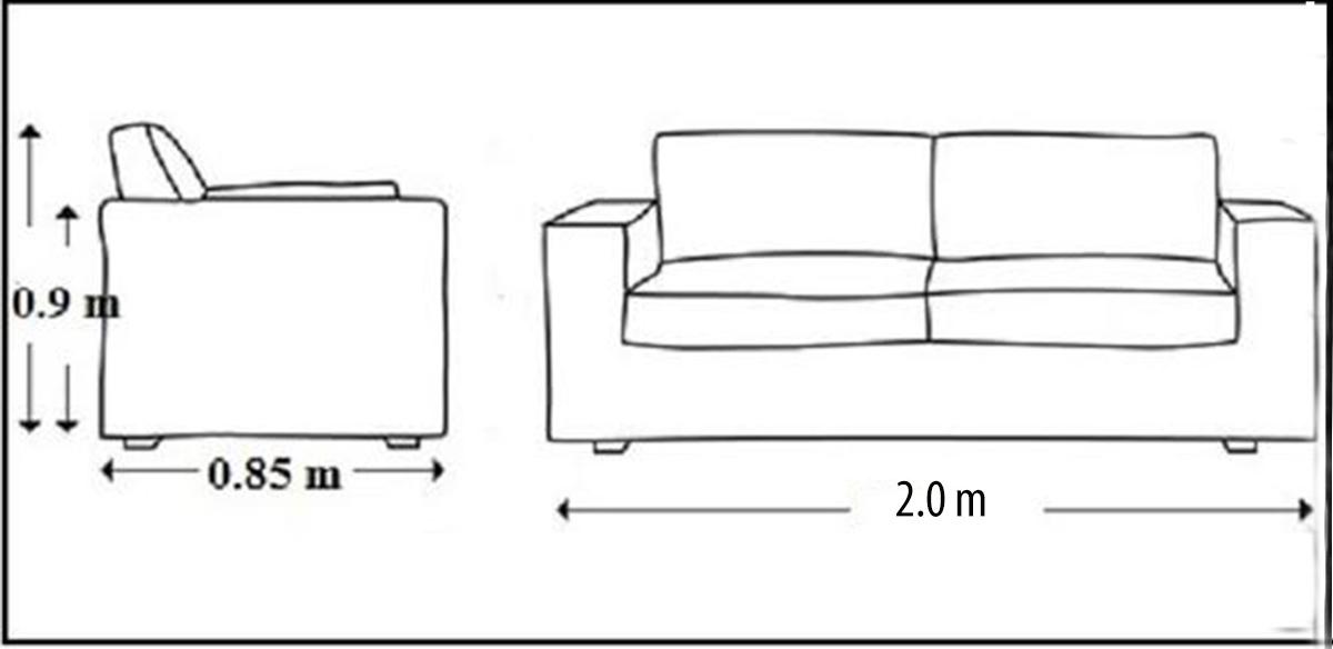 Ghế sofa gỗ dài 2m dạng văng