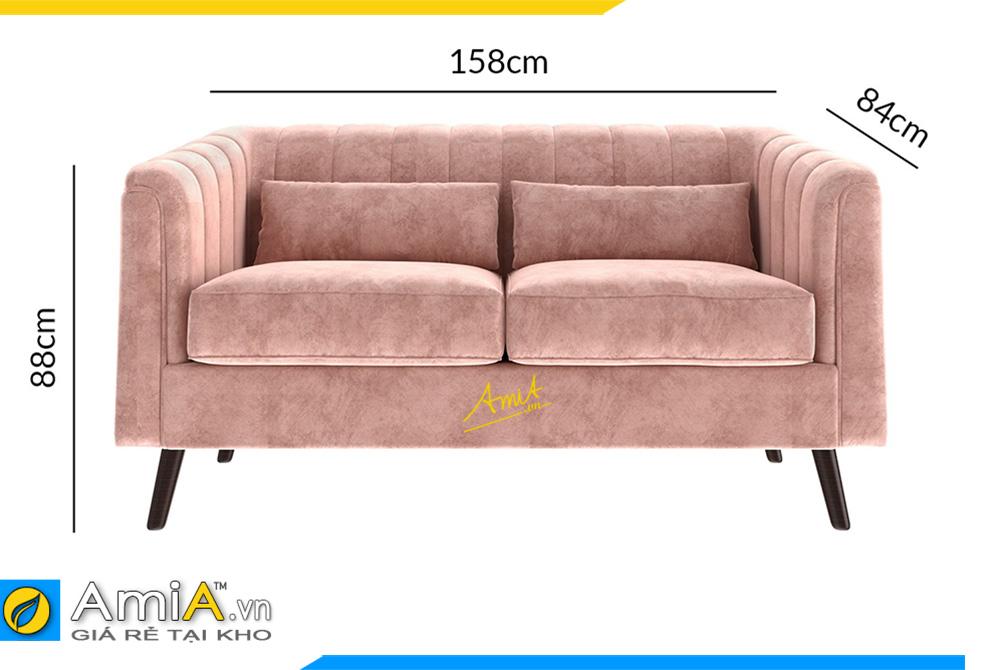 kích thước sofa văng đôi đẹp