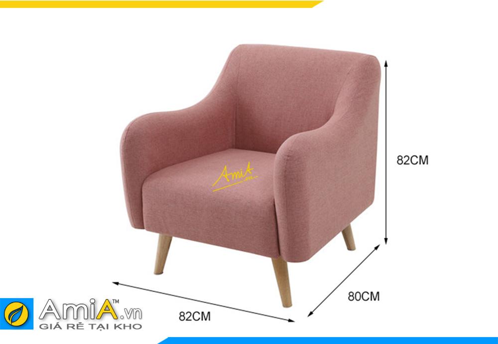 sofa văng đơn màu hồng