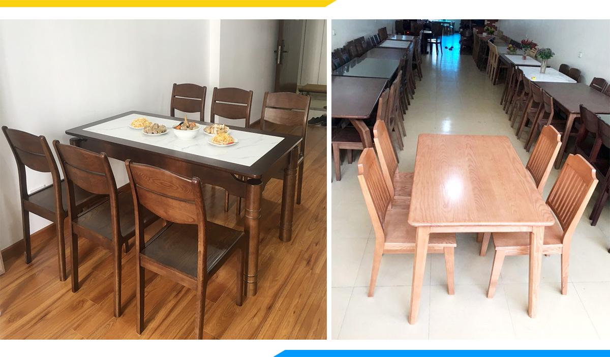 Hình ảnh Mẫu bàn ghế ăn đẹp giao tại nhà khách hàng