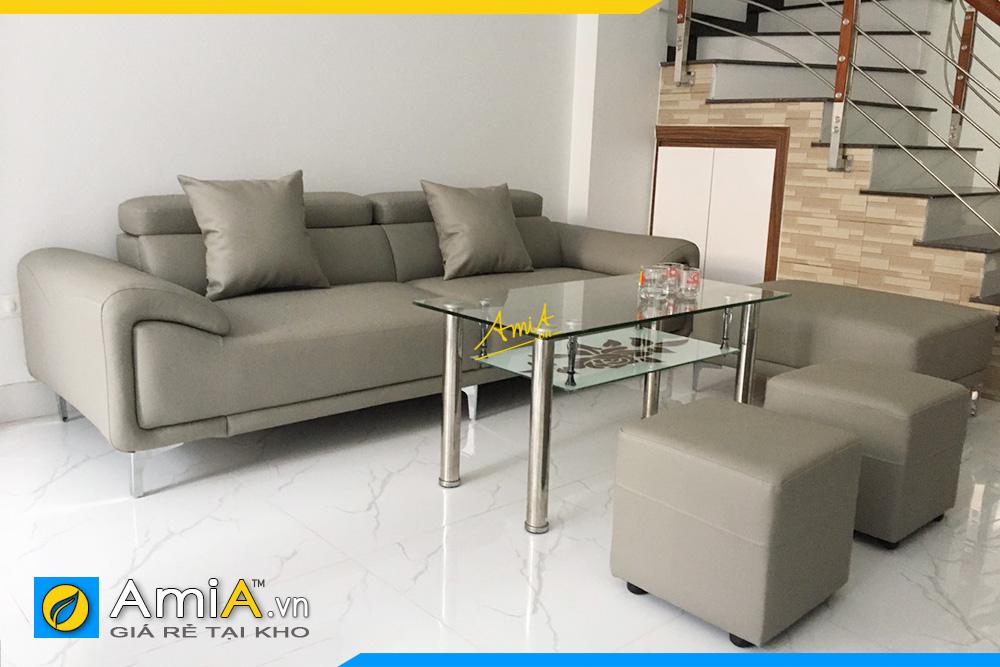 Ghế sofa da văng đẹp hiện đại