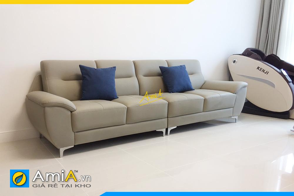 Hình ảnh Mẫu ghế sofa văng da 4 chỗ đẹp sang trọng