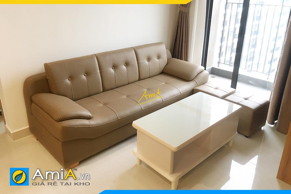 Hình ảnh Mẫu ghế sofa văng da hiện đại kê nhà chung cư