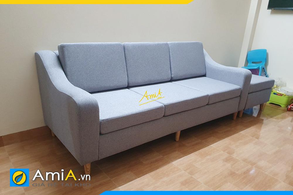 Hình ảnh Mẫu ghế sofa văng nỉ 3 chỗ đẹp đơn giản kê phòng khách