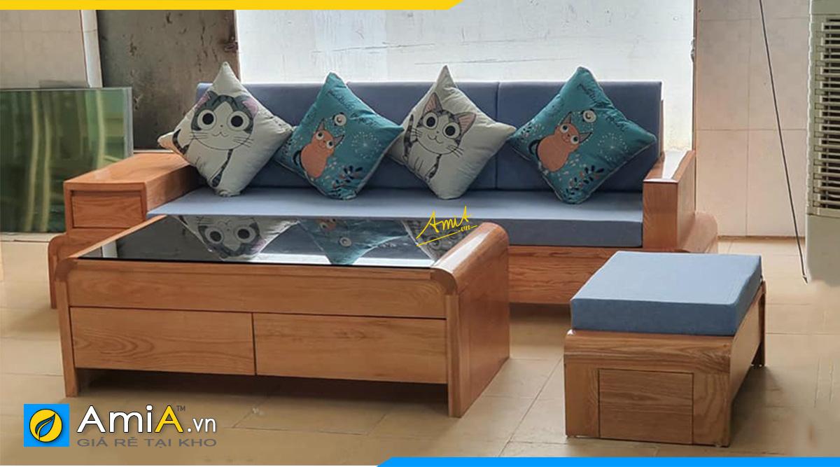 Mẫu sofa gỗ văng cho phòng khách nhỏ hẹp