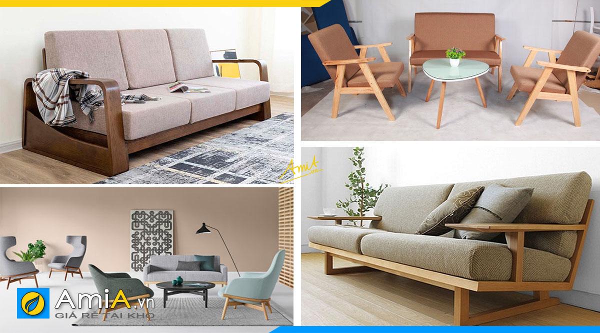 Mẫu sofa gỗ thiết kế thanh mảnh