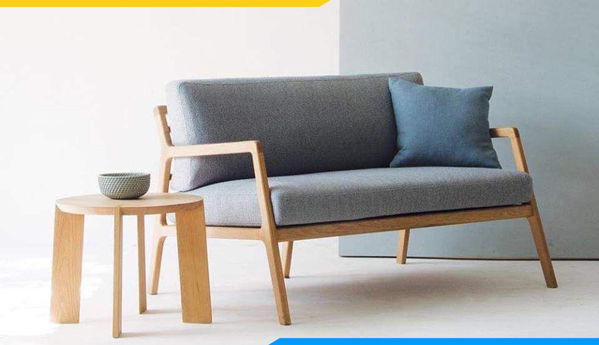 Mẫu sofa đôi 2 chỗ ngồi đơn giản, hiện đại cho không gian làm việc năng động