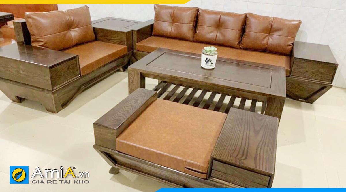 Sofa gỗ văng phòng làm việc