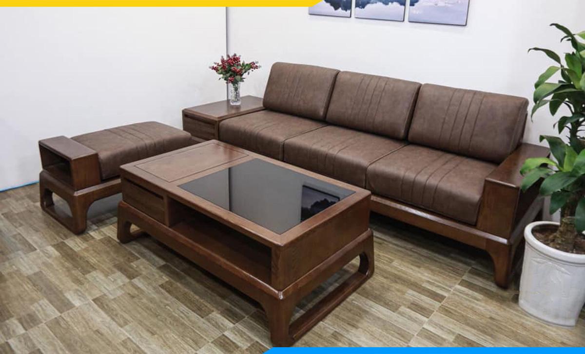 Sofa gỗ thanh lịch kê văn phòng riêng