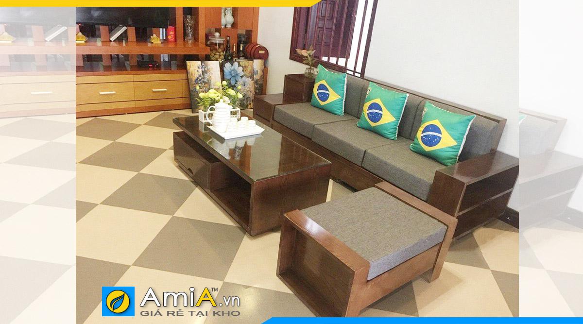 sofa gỗ văng đẹp phòng khách