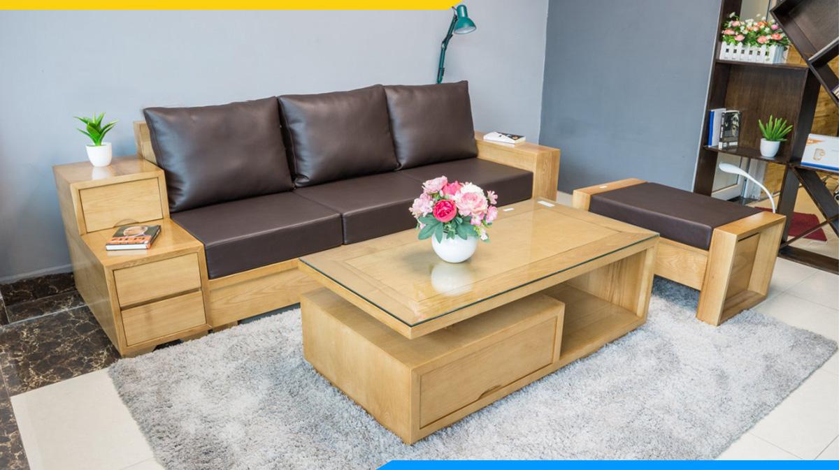 Sofa văng gỗ đơn giản