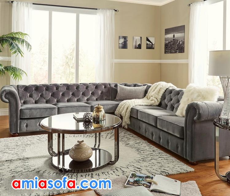 sofa góc tân cổ điển đẹp