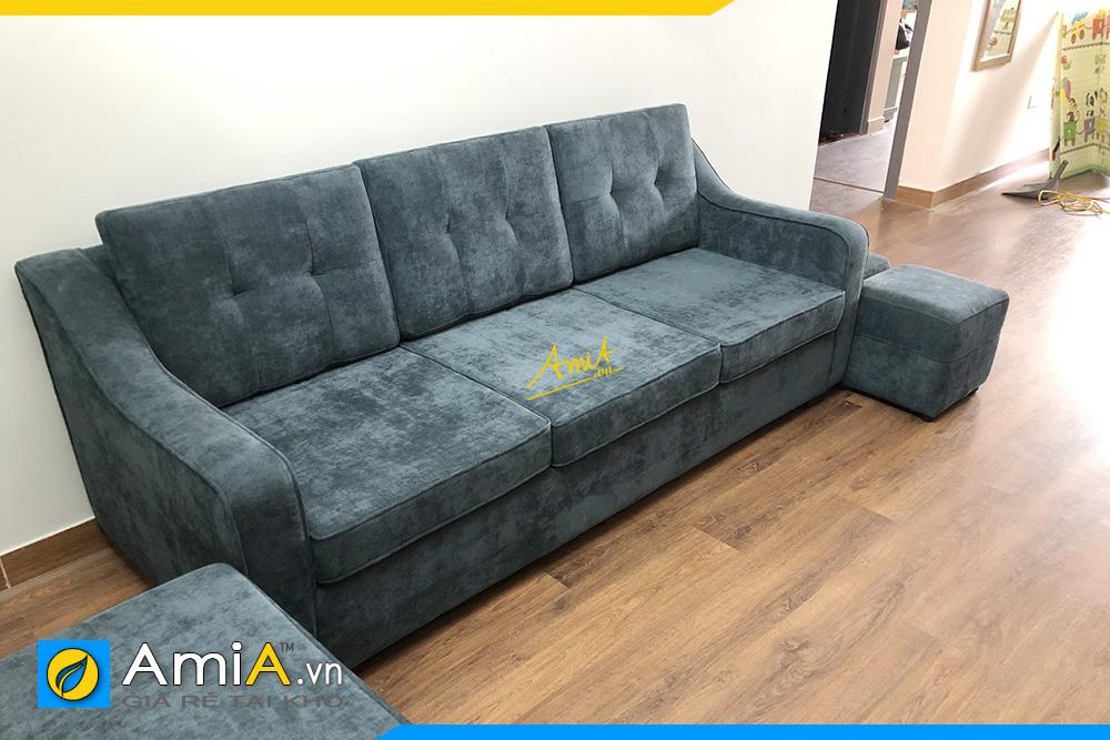 hình ảnh sofa văng nỉ 3 chỗ ngồi kê phòng khách đẹp